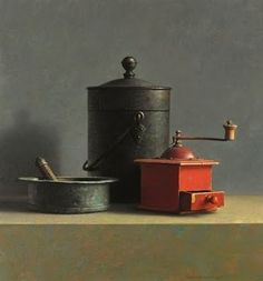 View Still life with red coffee mill by Henk Helmantel on artnet. Browse upcoming and past auction lots by Henk Helmantel. Still Life 2, Still Life Photos, Be Still, Ombres Portées, Classical Realism, Hyper Realistic Paintings, Painting Still Life, Dutch Artists, Still Life Photography