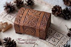 """Купить """"Шоколад"""" резная шкатулка-сундучок 8х11 Резьба по дереву Подарок Эко - кантри, коричневый"""