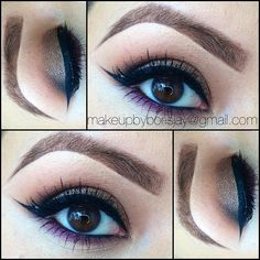 Deeply dashing on the lid, embark on the outer crease and soft brown with texture above the crease. Fig 1. Snugged on lower lash line:) #mac #eyeshadows and #pressedpigments  @borisjay