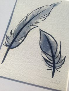 For one of a kind, hand drawn, handmade and original artwork visit this Etsy shop! Feathers in watercolour and brush pen only £20!
