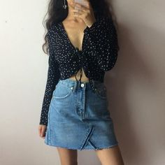 Retro French style sexy V-necked small star shirt
