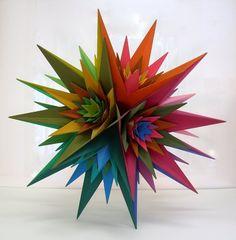 Geometric art of Morton C. Solid Geometry, Cardboard Sculpture, Math Art, Geometric Form, Paper Art, Origami, Sculptures, Lotus, Design