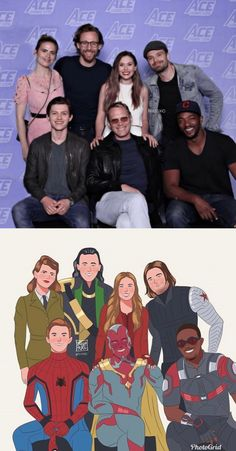 Why do they look like they're taking a family photo? Marvel Avengers Movies, Avengers Cast, Mcu Marvel, Disney Marvel, Marvel Funny, Marvel Dc Comics, Marvel Actors, Image Triste, Wanda Marvel
