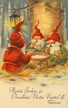 Irma Salmi Christmas And New Year, Christmas Cards, Merry Christmas, Troll, Kobold, Elves And Fairies, Scandinavian Christmas, Gnomes, Fairy Tales