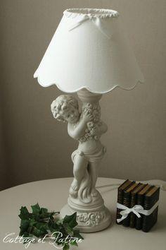Cottage et Patine lampe ref 4