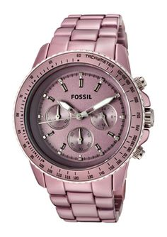 Fossil Women's Stella Casual Watch -love this color! Cute Watches, Stylish Watches, Casual Watches, Luxury Watches, Watches For Men, Bling Bling, Pink Watch, Swiss Army Watches, Fossil Watches