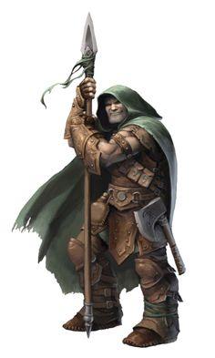 Male Human Evil Ranger - Pathfinder PFRPG DND D&D d20 fantasy