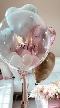 Customized balloon with Foil Balloons Bouquet Clear Balloons With Confetti, Small Balloons, Bubble Balloons, Helium Balloons, Foil Balloons, Latex Balloons, Personalized Balloons, Custom Balloons, Balloon Flowers