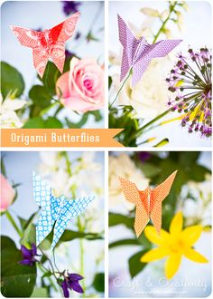 DIY: origami butterflies