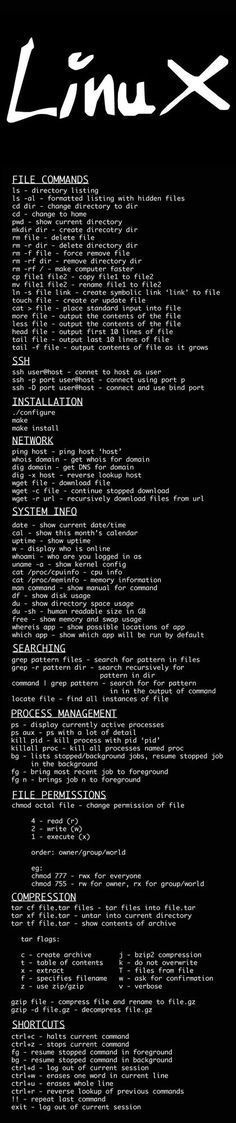 Linux commands cheat sheet - Iu0027m Programmer Programming - z os unix system programmer resume
