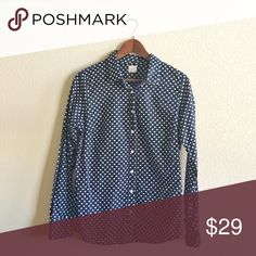 J. Crew Button Down Shirt Gently used. Final sale. Pls ask questions before purchasing. J. Crew Tops Button Down Shirts