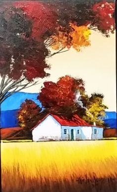 South African Contemporary and Upcoming Artist & Old Masters Art Gallery. Oil Pastel Landscape, Abstract Landscape Painting, Landscape Paintings, Tuscany Landscape, South African Art, Upcoming Artists, Painting Lessons, Art Gallery, Houses
