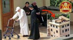 The brothers Joseph (87) and Georg Ratzinger (90) with their crutches. The man with the dark CAP is the Pope's private Secretary Georg Gänswein (57), one of the sisters, with whom Benedict shares his nursing home.