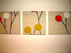 $65 Set Of 3 25x25 Contemporary Designer Retro Print by MARIESCOSYCUSHIONS - more designs