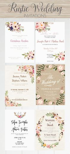 Rustic wedding and Bridal invitations at affortable prices, only at Serendipity Paperi