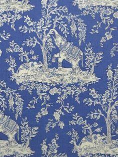 DecoratorsBest - Detail1 - CL HB400-5 - Ile Des Elephants - Cobalt - Fabrics - DecoratorsBest
