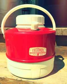Vintage Classic Thermos Red PicNic Jug Cooler by MidCenturyMyrtle on Etsy
