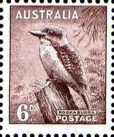 Australia Stamp - Kookaburra -- 6d Kooka