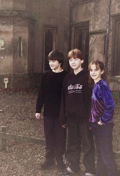 Daniel Radcliff, Rupert Grint and Emma Watson