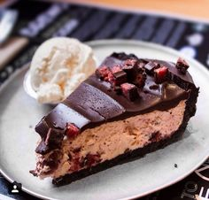 Cherry ripe cheesecake