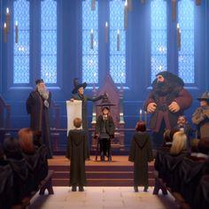 Captura de pantalla de la Ceremonia de clasificación de Harry Potter: Hogwarts Mystery