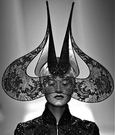 Black Lace Hat - couture millinery; sculptural headwear; wearable art // Phillip Treacy