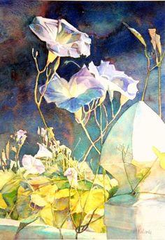 Good Morning Glory.  Maryann Valvoda Watercolor