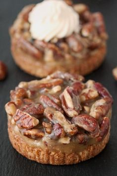 Gluten-Free Mini Caramel Pecan Tarts on My Baking Addiction