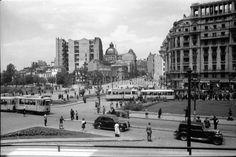 G34.Bukarest.Platz vor der Ausstellung, Calea Victoriei, Podul Dambovita