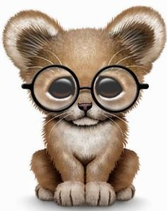 Lion Cub in Glasses