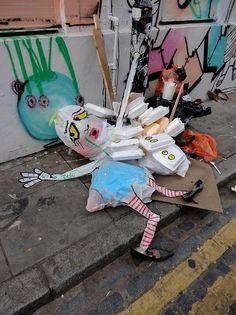 Francisco de Pájaro, Art is Trash Street Art, Londre 2014