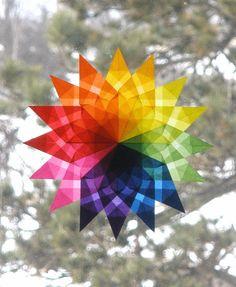 Christmas Stars-Origami folding technique/colored kite