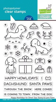 Stamptember Lawn Fawn - Happy Howlidays - Lime Doodle Design
