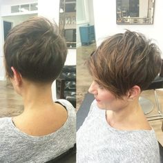 Hooked up my homie Christy tonight with a fresh taper as she's growing out! Short Shag Hairstyles, Cool Hairstyles, Love Hair, Great Hair, Short Hair Cuts, Short Hair Styles, Cute Haircuts, Hair Affair, Grow Out