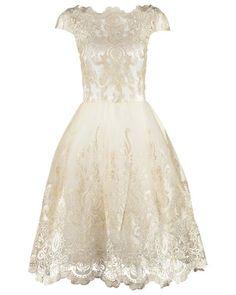 Cocktailkleid / festliches Kleid white/gold Chi Chi London 72