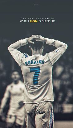 Cristiano Ronaldo Awesome Poster - Let the Rats enjoy when the Lion is sleeping Foto Cristiano Ronaldo, Christano Ronaldo, Cristiano Ronaldo Portugal, Cristiano Ronaldo Wallpapers, Ronaldo Football, Ronaldo Real Madrid, Real Madrid Football, Cr7 Portugal, Cr7 Wallpapers