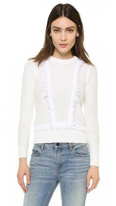 Club Monaco Martuska Fringe Sweater | SHOPBOP