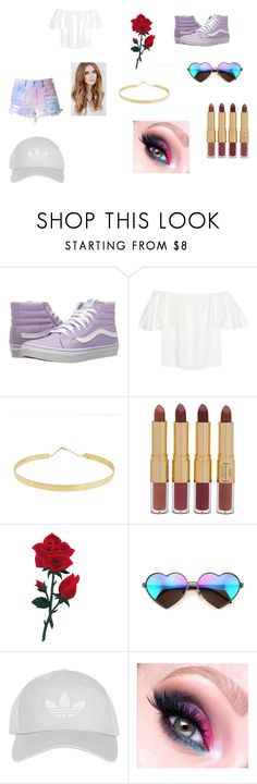 """galaxy"" by pingpong12 on Polyvore featuring Vans, Valentino, Lana, tarte, Wildfox and Topshop"
