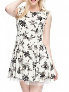 Embroidery Floral Print Women Casual Pleated Dresses For Female Summer