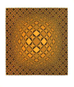 Vasarely Victor : Signed screenprint : Title unknow III