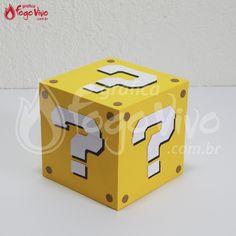 """Caixa """"?"""" Super Mario Bros. Link: http://www.graficafogovivo.com.br/loja/shapes/kits-digitais/kit-digital-super-mario-bros.html"""