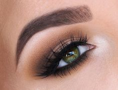 Lovely everyday 'Warm Smokey Eye' look by Tania using Makeup Geek's Chickadee, Mocha, and Peach Smoothie eyeshadows along with Afterglow pigment.