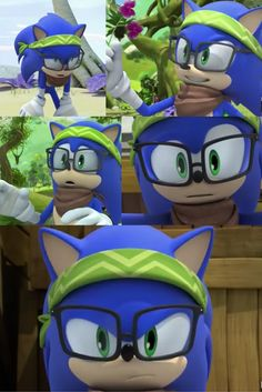Sonic's wearing glasses in this Sonic Boom cartoon!