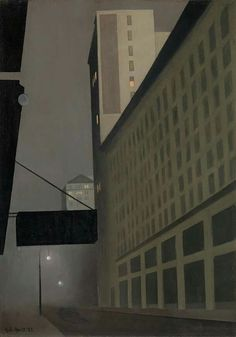 George Ault (1891-1948) New York Night, No. 2, 1921
