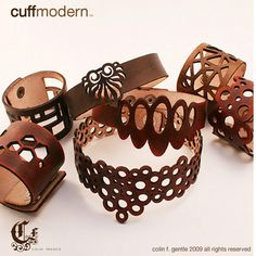Elegant lasercut leather bracelet