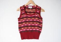 image 0 Sleevless Sweater, Knit Vest, Vintage Knitting, Hippie Boho, Nerd, Sweaters, Shirts, Image, Tops