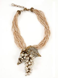 American costume jewelry brand Miriam Haskell will be sponsoring the exhibit, and donating a piece of vintage Miriam Haskell to the museum's permanent collection - a gilded metal and pearl grape cluster necklace.