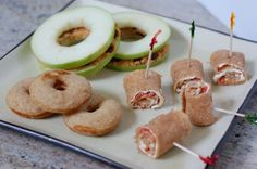 "I love the ""Apple Sandwiches"" and so many other wonderful tips for healthy kid's lunches, from www.100daysofrealfood.com - one of my favorite real-food websites."