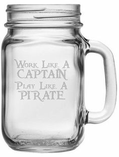 Pirate Glass (Set of 4  Emily fisher and Krysten warnes thought you ladies might like these. Lol