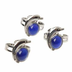 Lot Of 12 Assorted Sizes Stainless Steel Dolphin Theme Mood Rings -- Read more reviews of the product by visiting the link on the image.